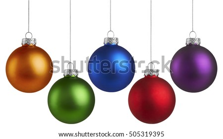 Christmas Holiday Balls isolated on a white background Royalty-Free Stock Photo #505319395