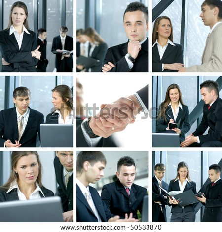 Business collage made of nine business pictures #50533870