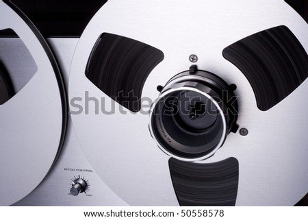 Reel tape on the reel-to-reel recorder