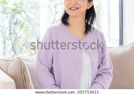 Asian senior woman #505753615