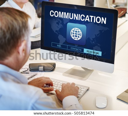 Global Communication Connection Networking Graphic Concept #505813474