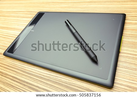 Working place of designer, close-up #505837156