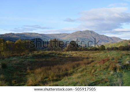 Scottish Highlands on an autumn morning #505917505