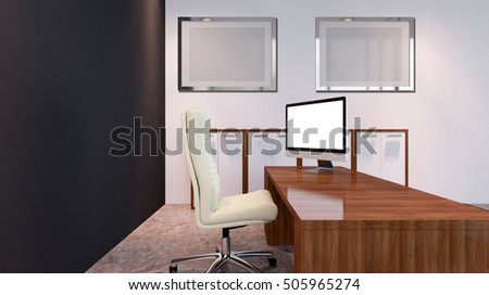 The Conceptual offices. Office array. 3d rendering. #505965274