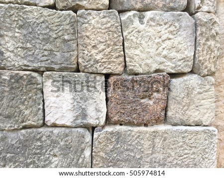 Ancient old Brick Stone Texture pattern background #505974814