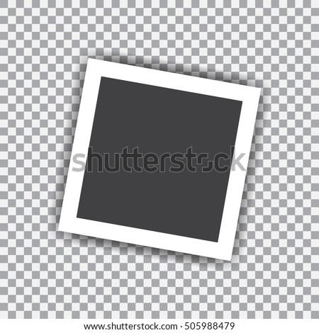 Retro blank photography with shadow on a transparent background #505988479