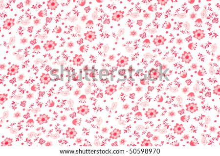 Abstract pattern with tiny flowers #50598970