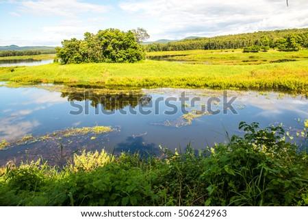 Landscape View of Mae Puem Reservoir, Thailand #506242963