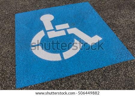 Universal Sign for Handicap Parking Spot I
