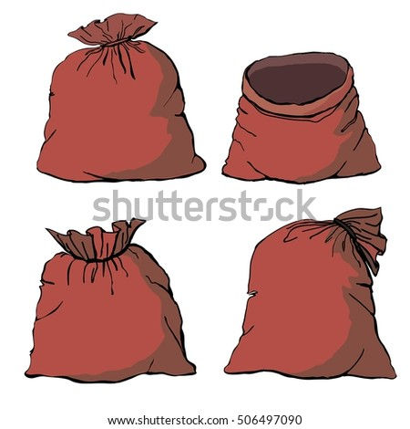 bag Christmas - vector illustration #506497090