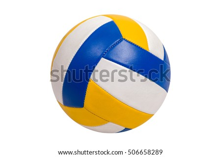 Volleyball Ball Isolated on White Background Royalty-Free Stock Photo #506658289