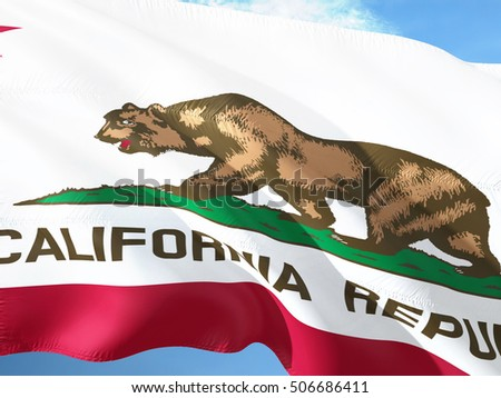 Flag of California on the mast #506686411