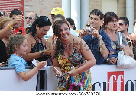 Giffoni Valle Piana, Sa, Italy - July 19, 2011 : Antonella Ferrari at Giffoni Film Festival 2011 - on July 19, 2011 in Giffoni Valle Piana, Italy   #506760370