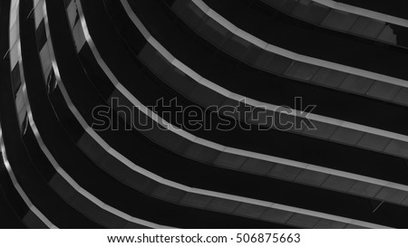 Black and white study of patterns and lines  #506875663