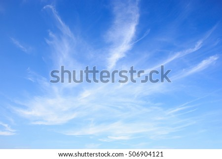 White clear clouds in the blue sky background. #506904121