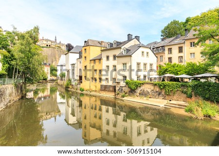 Luxembourg City, downtown city part Grund #506915104
