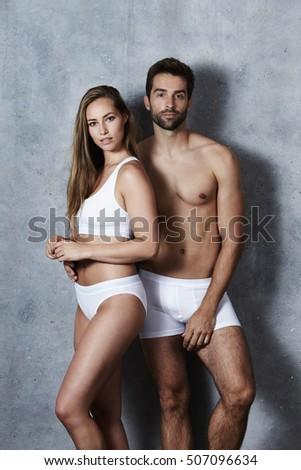 Stunning couple undressed in studio #507096634
