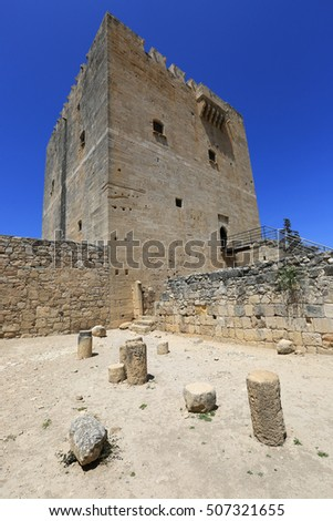 Tower of Kolossi castle near Limassol in Cyprus #507321655