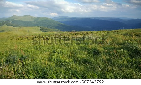 Bieszczady mountains in Poland #507343792