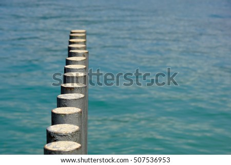 Old pier poles #507536953