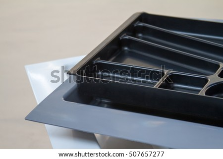 Tray of forks and spoons. Organizer for Cutlery. The manufacture of furniture. Furniture accessories. #507657277