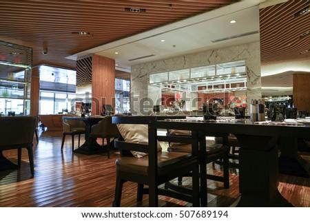 Restaurant interior #507689194
