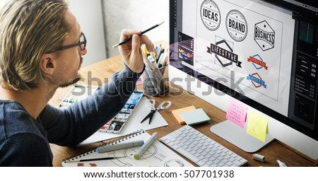Logo Design Business House Concept Royalty-Free Stock Photo #507701938