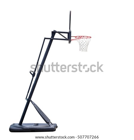 Basketball board on white background with clipping path. #507707266