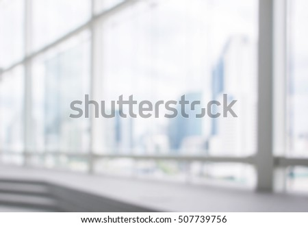 Blurred background : office and hallway interior