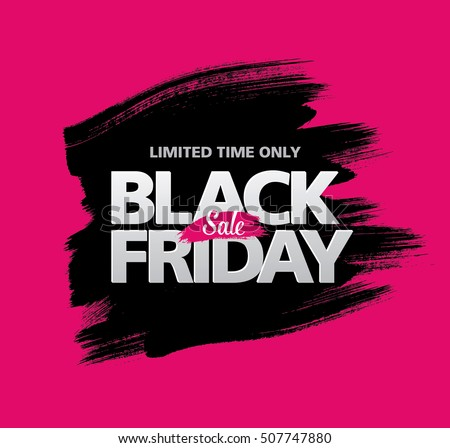 Black friday sale banner Royalty-Free Stock Photo #507747880
