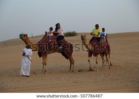 DUBAI - 23 MAY: Camel Riding in Dubai on 23 May 2015 #507786487