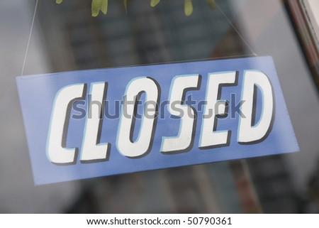 Closed Sign #50790361