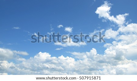 The vast blue sky and clouds sky #507915871