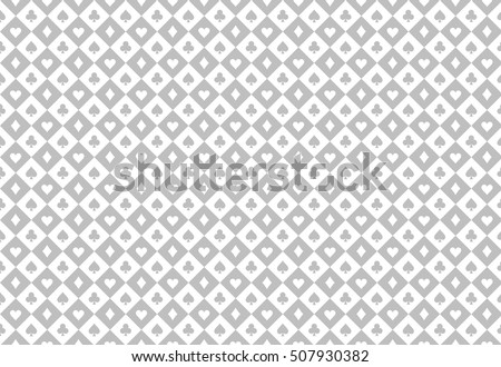 Minimalistic light grey poker background with seamless texture composed from card symbols