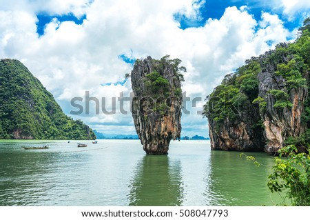 Why it calling James Bond Island? Sure, that was related to the James Bond movie, The Man with the Golden Gun publication in 1974. Ever since, it was inevitably becoming famous throughout Thailand. #508047793