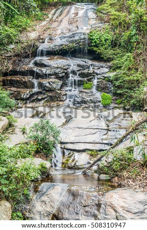 Monthathan waterfall in Chiangmai province, Thailand #508310947
