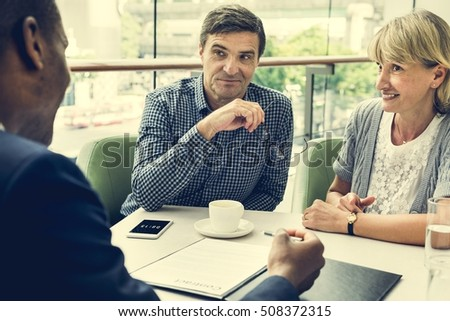 Business Discussion Talking Deal Concept #508372315