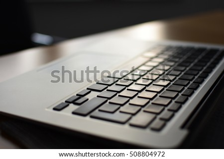 close-up of a laptop #508804972