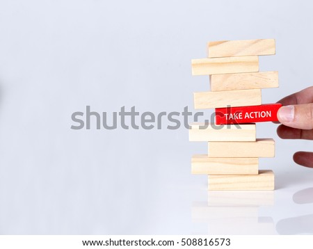 TAKE ACTION CONCEPT #508816573