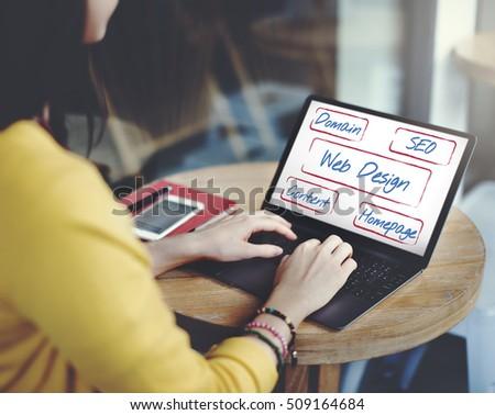 Web Design Domain Seo Words #509164684