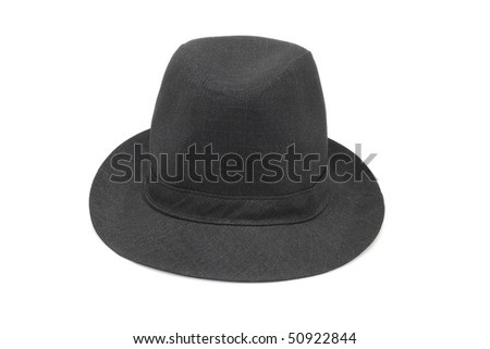 Old fashion black hat on white background #50922844