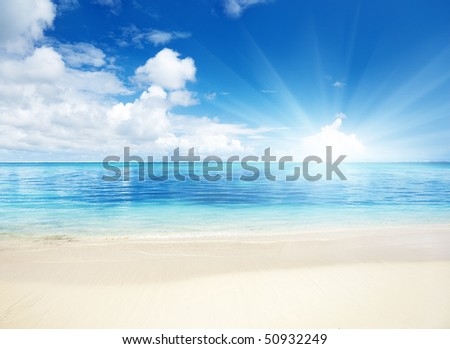 sand of beach caribbean sea #50932249