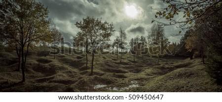 First World War battlefield, Froideterre, Verdun, France Royalty-Free Stock Photo #509450647