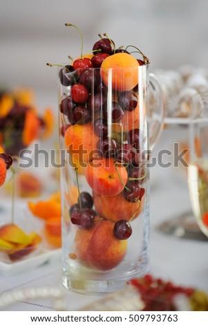 peach and cherry #509793763