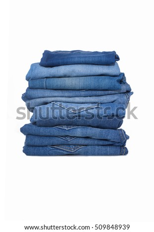 Blue Jeans Stack, youth pants #509848939
