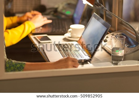 translators cubicle Royalty-Free Stock Photo #509852905