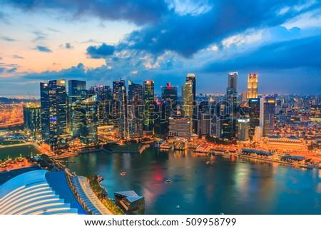 Singapore city skyline #509958799