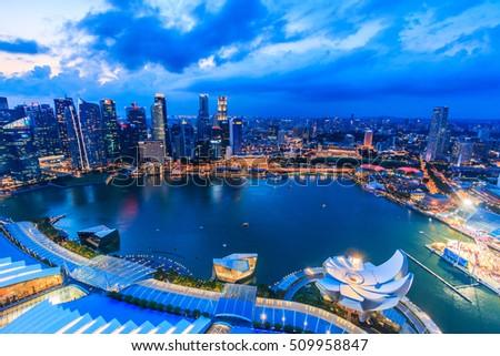 Singapore city skyline #509958847