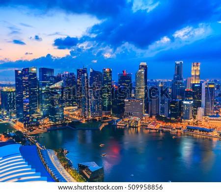 Singapore city skyline #509958856