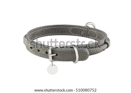 dog collar isolated on the white background Royalty-Free Stock Photo #510080752